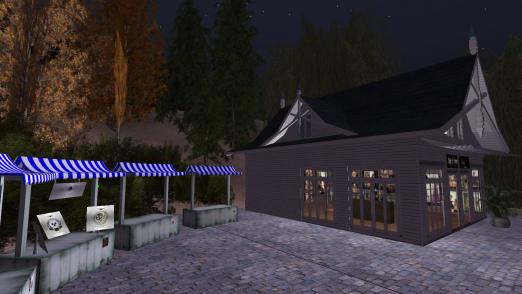 Die Schiffsrattenshops bei Nacht