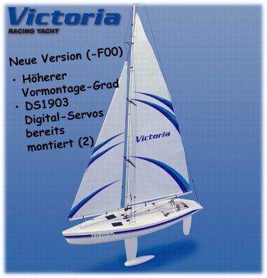 VICTORIA-Segelyacht-inkl-Digi-Servos-teil-vormontiert-5556-F00-Thunder-Tiger